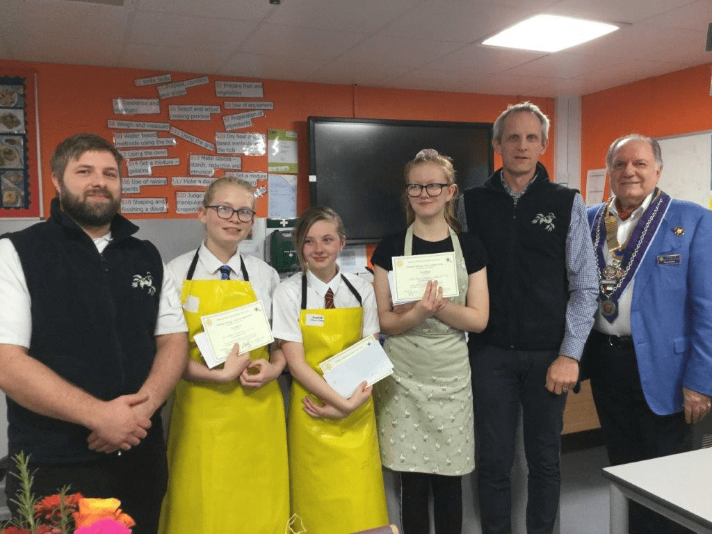 Students 'cook up a storm' in Rotary Club chef competition
