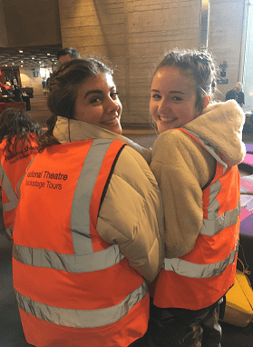 Year 12s take a backstage tour of the National Theatre, London