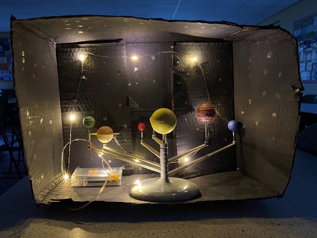 Year 8 model the solar system